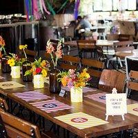 שולחן אירועים מעוצב ויפייפה