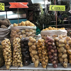Michelle taught me about the many varieties of potatoes native to the Andes.