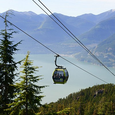 The Sea to Sky Gondola overlooking Howe Sound in beautiful Squamsh, BC.