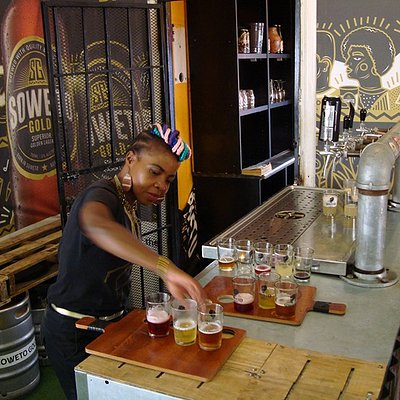 Delicious beer tasting at the Soweto Brewery