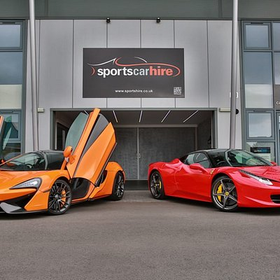 Sportscarhire Showroom in Shrewsbury, you're welcome weekdays and Saturday to view all our cars before hiring.  Weekend hires are popular & touring packages with two top Spa hotels in Wales