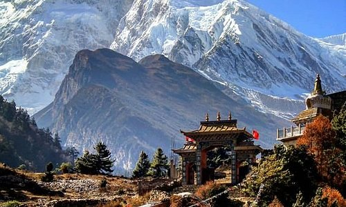Majestic Mt. manaslu 8163 m. 8th highest mountain in the world