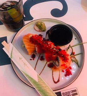 Amazing rainbow sushi