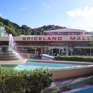 Spiceland Mall with a fountain