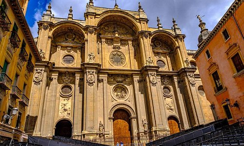 Outside the Granada cathedral