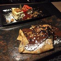 cheesecake +  crepe