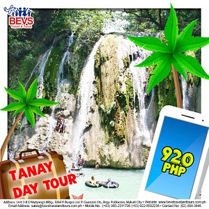 Package Inclusions:  Roundtrip service van (Manila-Tanay-Manila) Entrance and Environmental fees Fuel, toll fees, driver's meal and accommodation Cave Local Guide  For more details, kindly contact our customer service at (02) 808-3446 or vist our FB page
