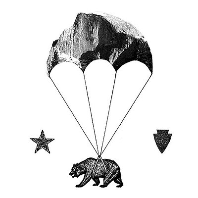 Skydive Yosemite Logo with Half Dome Parachute!