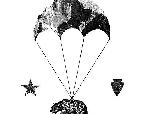 Skydive Yosemite Logo with Half Dome Parachute!