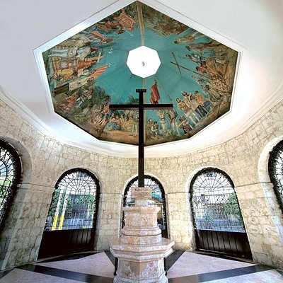 Magellan's cross is a Christian cross planted by Portuguese and Spanish explorers led by Ferdinand Magellan on 1521 when he baptised the first Christian Filipinos, Rajah Humabon and Queen Juana