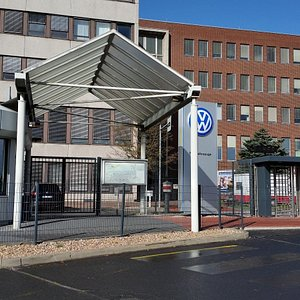 Outside view from the VW plant in Hannover where the transporters are built, south entrance near U/S-Bahn station Stöcken