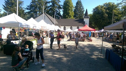 "Open Saturday's 10.00am-3.00pm May 4th - October 26th 2019 The Fort Langley Village Farmers' Market opens Saturdays from 10.00am to 3.00pm Come and get your fresh farm produce, vegetables, eggs, honey, jams & preserves, fresh flowers, fresh breads, baking and more. Our local farmers & food vendors and ""Best of BC"" Artisans offer high quality foods and products for you and your family. 9025 Glover Road, opposite the Husky Gas Station. We are pet friendly! :)"