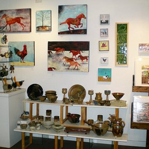 Local art & crafts in the Artists' Shop, Missoula.