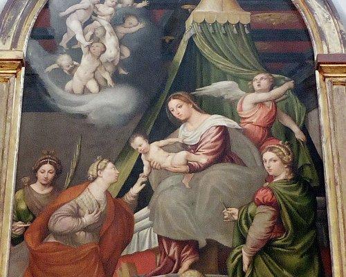 Pala d'altare: matrimonio mistico di Santa Caterina