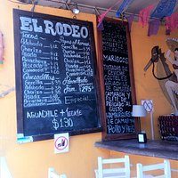 Menu from El Rodeo.