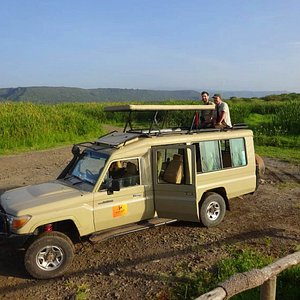 Strong Safari Toyota Landcruizer 4WD fitted with pop-up roof for game viewing and photographing. 6 seater each person has a window seat. Plenty of leg-roof. You have a small freezer in the jeep. Power outlet to recharge your cameras etc. Come on safari with us for a memorable adventure.  Nyika Treks. +255754393331