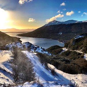 Lago Escondido en Invierno.