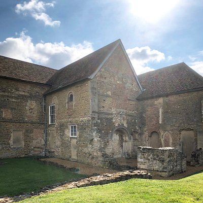 Denny Abbey, showing evidence of some of the alterations in its 800 year progress from abbey to farmhouse