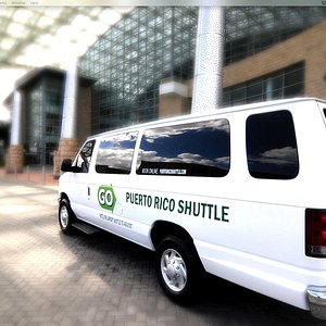 Go Shuttle van at the Puerto Rico Convention Center.