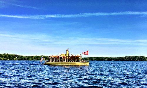 Photo taken from a friend's boat, 9/2018 showing the Minnehaha on Lake Minnetonka