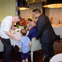 Meeting our Michelin Star Chef Gary Rhodes at Rhodes Twenty10