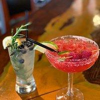 Blueberry Refresher and Raspberry Margarita