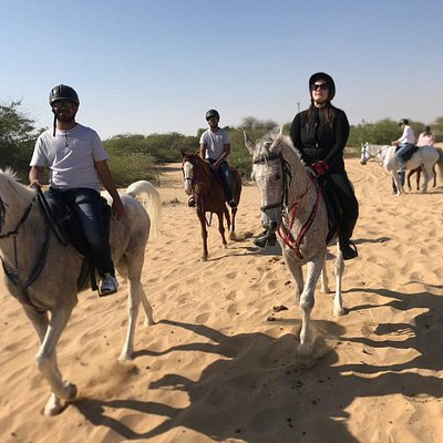 Our Guests enjoying the early morning desert hack.