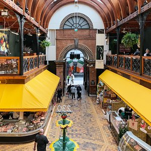 A view inside the English Market.