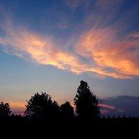 Il sole tramonta,in una splendida serata estiva.Questa foto l'ho scattata lo scorso Luglio a Torlino,ai confini del Parco del Fiume Tormo.