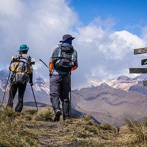 Hiking at los Nevados National Natural Park