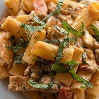 Our signature pasta:  Rigatoni Mandara