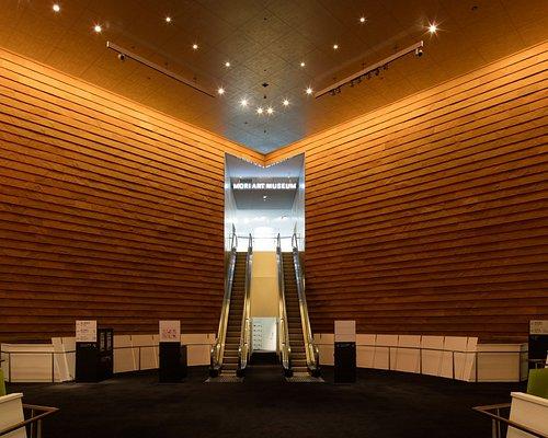 森美術館入口/Entrance to the Mori Art Museum.