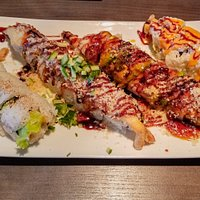 The sushi rolls were excellent.