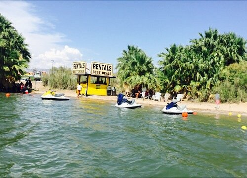 Watercraft Adventures HWY 95 location is the best place for great deals on newer watercraft with a private beach for you to use!