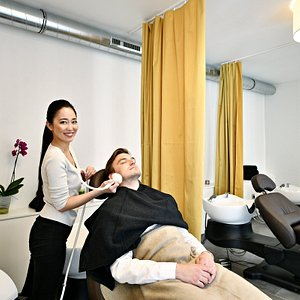 Our special Head Spa procedure - massage of head, face and neck.