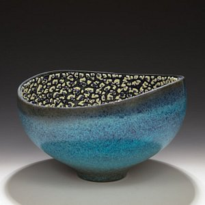 Altered Vessel with layered glazes
