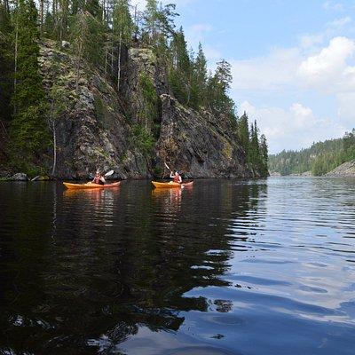 Kayaking tours in Hossa National Park in Finland. Ask and we tailor it for you!