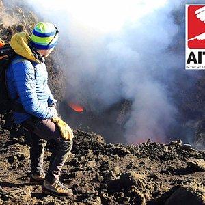 Il Cratere sommitale Bocca Nuova in attività