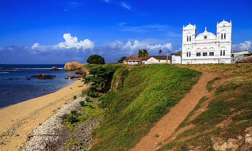 Ancient Church in Fort Gale at Sri Lanka. Horizontal orientation