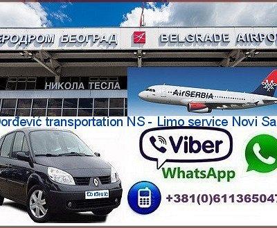 Taxi transportation: Novi Sad - Nikola Tesla Airport Belgrade - Novi Sad,Djordjevic transportation NS, street: Simeona Piscevica 17, Bistrica, Novi Sad, phone/viber/ whatssapp:+381611365047  more at the address: https://sites.google.com/site/djordjevicprevozns/taxi-transportation-novi-sad---nikola-tesla-airport-belgrade---novi-sad