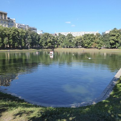 a pond in central Moscow