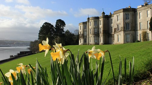 Beautiful spring morning at Plas Newydd House and Garden.