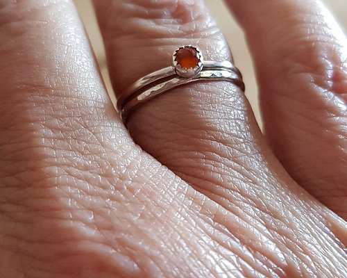 I made 2 stacking rings 925 sterling silver and my son made a chunky ring 935 sterling silver.