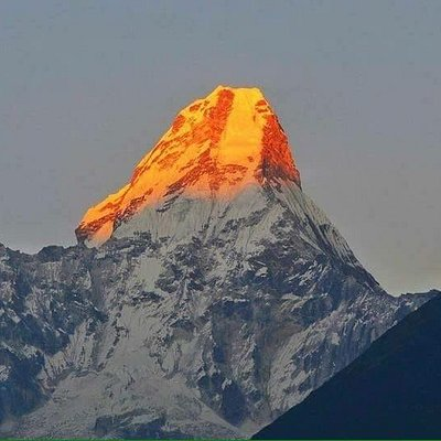Mount Amadablam, Be proud as a mountain and be happy as a sunrise.