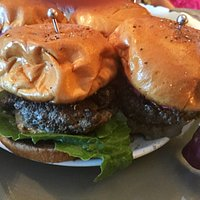 The best burger ever from Toni who has won two James Beard National burger contests!!!