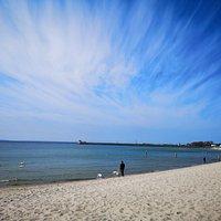 The beach in Hel