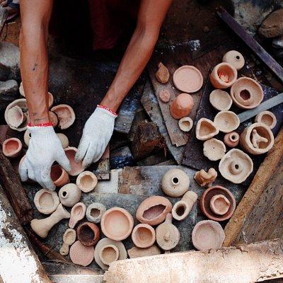 陶器野燒。