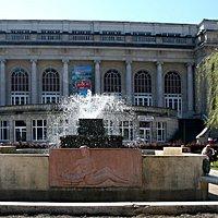 Vue de la fontaine des jardins du casino
