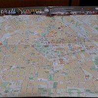Cartina della città di Novara