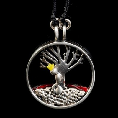 "A story telling, hand made Silver 925 pendant,  featuring the ""Little prince"". Made by one of our most favorite artists Thodoris Christogiannis."